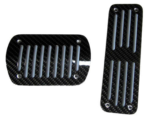 Mercedes Benz Black Carbon Fiber Pedal Pads
