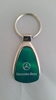Mercedes Benz Green Teardrop Keychain