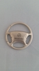 Mercedes Benz Silver Steering Wheel Keychain
