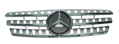 Mercedes Benz ML Silver Grille Assembly