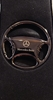 Mercedes Benz Black Steering Wheel Keychain