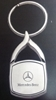 Mercedes Benz Silver & Chrome Wishbone Keychain